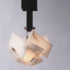 A pendant light designed by Pierre Chareau (Galerie MCDE)