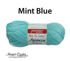 Premier Afternoon Cotton Solid Yarn - Mint Blue