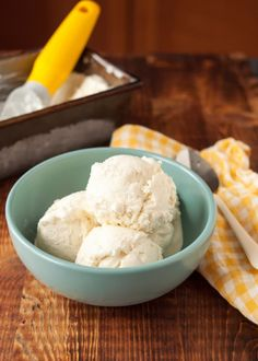 This ice cream is made with only two ingredients, requires no stovetop cooking, and can be made with just a hand mixer. No ice cream machine needed.