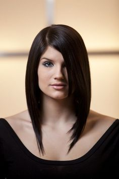 long length angled bob hairstyles