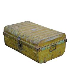 Take a look at this Olive Vintage 1950s Iron Traveler's Storage Trunk on zulily today!
