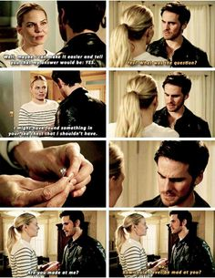 There were too many emotions with this scene not least of all the fact that Emma said sea chest which tickled me proper