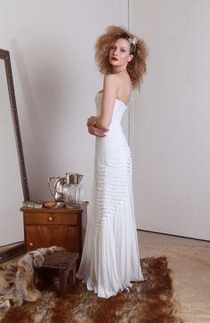 dress : Remshardt Brautkleid   A-Linie Chiffon Kleidergröße DE 36 id242