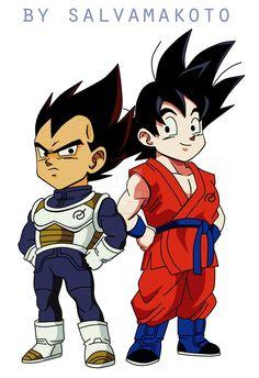Vegeta and Goku by salvamakoto