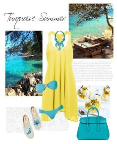 """Turquise Summer"" by isidora ❤ liked on Polyvore featuring Siman Tu, Bally, SUB and Soludos"