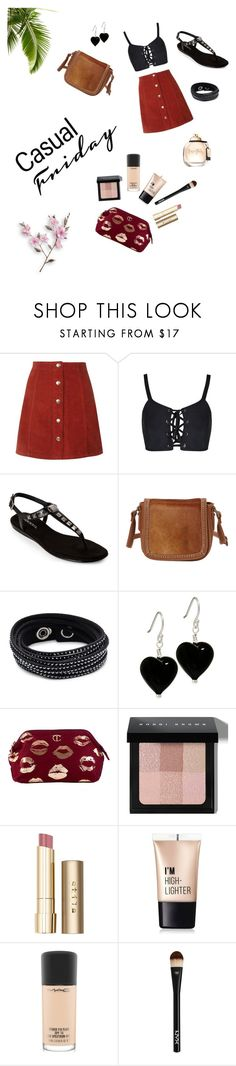 """""""Untitled #19"""" by valeriewong1234 ❤ liked on Polyvore featuring Aerosoles, Montana West, Swarovski, Bobbi Brown Cosmetics, Stila, Charlotte Russe, MAC Cosmetics and NYX"""