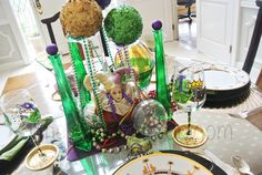 Tablescapes. Laissez Le Bon Temps Rouler Mardi Gras party