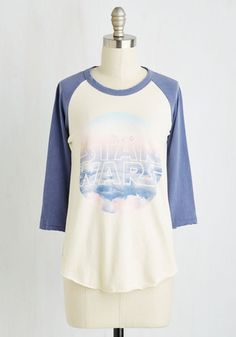 Skywalker's the Limit Top . If you need inspiration for your lofty goals and dreams, this rugged raglan tee will give you galactic motivation. #white #modcloth
