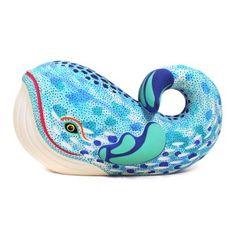 Luis Pablo: Magnificent Watercolor Whale Paper Mache Sculpture, Wood Sculpture, Sculptures, Mexican Artwork, Mexican Folk Art, Decorative Household Items, Watercolor Whale, Foxes Photography, Mexico Art