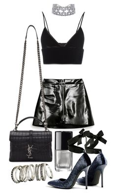 """Untitled #20673"" by florencia95 ❤ liked on Polyvore featuring Chanel, T By Alexander Wang, Yves Saint Laurent and H&M"