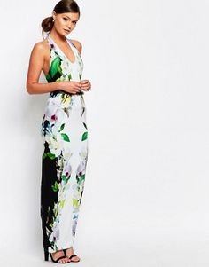 f726cd0377aa0 Ted Baker Torus Maxi Dress in Forget Me Not Trellis Print Nice Dresses