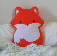 Fox Pillow 23.6 60cm  Made to order