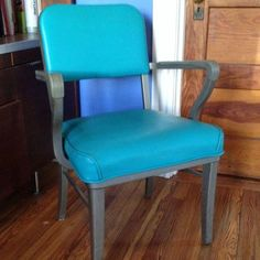 Image Of Vintage Machine Age Steelcase Tanker Desk Chair