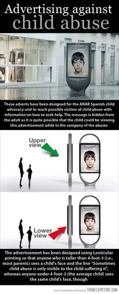 Very clever Spanish advert designed to reach child abuse victims…