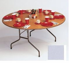 Correll Cf60Mr-13 Melamine Top Round Folding Table - Fixed Height - Dove Gray by CORRELL. $291.00. Economical choice for light duty home and office use.Standard 29 inch fixed height Melamine top on .625 inch high density particle board core 1.125 inch 14ga. Steel pedestal legs 1.625 inch One-piece steel apron Mar-proof plastic foot caps and edge molding Automatic lock-open mechanism Dimensions: 60 inches round