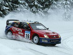 Citroen Xsara WRC of Carlos Sainz at 2003 Swedish Rally