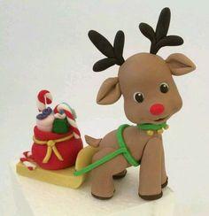 Reindeer & Santa's Treats Fondant Sugar Art