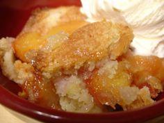 Low Calorie Peach Cobbler Recipe - 3 Points + - LaaLoosh