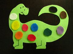 Dino's colorful day!