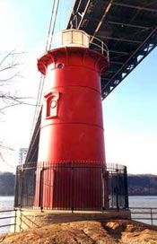 Little Red Lighthouse - Washington Heights Fort Washington Park - (enter at 181st street) read this book first http://www.amazon.com/Little-Lighthouse-Great-Gray-Bridge/dp/0152045716