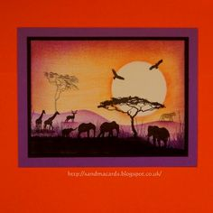 Sandma's Handmade Cards: Evening in Africa