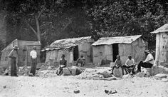 Aboriginal huts on Lameroo Beach Darwin, Australia, History, House Styles, Beach, Painting, Outdoor, Image, Art
