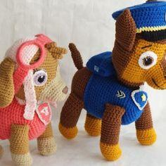 La patrulla canina en amigurumi