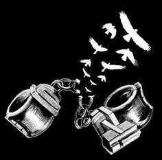 broken chains freedom possible tattoo idea Cool Tattoos, Tatoos, Recovery Tattoo, Chain Tattoo, Freedom Tattoos, Freedom Art, Arte Pop, Broken Chain, Black Art