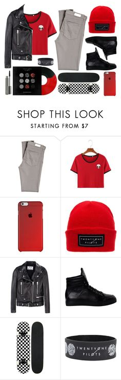 """TØP inspired"" by matryrdomandsuicide ❤ liked on Polyvore featuring AG Adriano Goldschmied, Acne Studios, Hot Topic and MAC Cosmetics"