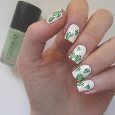 Cactus Nailart nail art by nagelfuchs