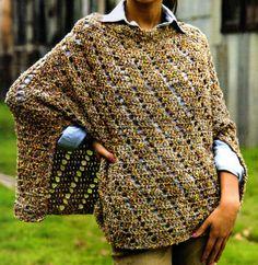 Crochet poncho — Crochet by Yana Crochet Jacket, Crochet Shawl, Knit Crochet, Crochet Capas, Cape Scarf, Spool Knitting, Knitted Cape, Diy Scarf, Crochet Clothes