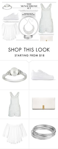 """""""1970's Inspired White Ensemble Outfit"""" by littlemisscupcake88 ❤ liked on Polyvore featuring Ice, NIKE, Topshop, Calvin Klein, Rebecca Taylor, Worthington, Kate Spade, modern, women's clothing and women's fashion"""