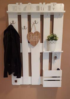 Garderoben - Palettenmöbel Garderobe in Weiß - ein Designerstück von…
