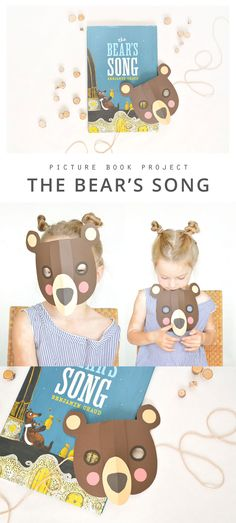 An inviting picture book project for, The Bear's Song...  Could make for a fun Halloween mask too :-)