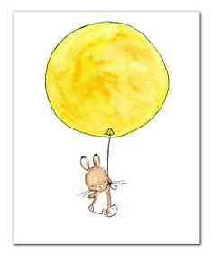 Up & Away Bunny Print