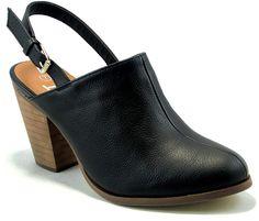 Black Kimberly Closed-Toe Mule