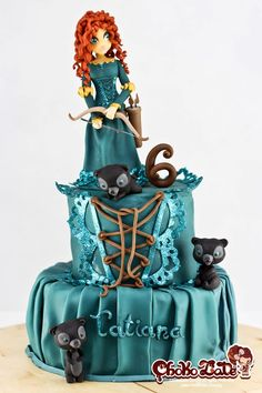 The Disney Cake Blog: Brave - Merida Cake