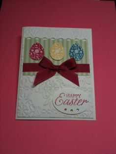 Rose Red Easter Blossoms by Ann in SA - Cards and Paper Crafts at Splitcoaststampers