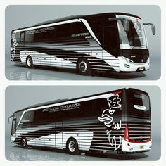 Black Pearl  #indonesia #bus #buses #livery #design