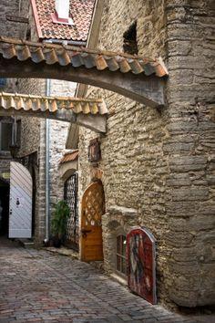 Tallinn Medieval Street ~ Estonia
