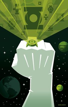 [Green Lantern's Ring] illustration by Tom Whalen
