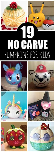 19 Clever No Carve Painted Pumpkins For Kids on Pretty My Party