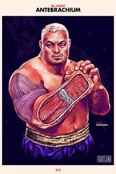artwork of heavy hitter Mark Hunt : if you love #MMA, you'll love the #UFC & #MixedMartialArts inspired fashion at CageCult: http://cagecult.com/mma