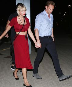 Taylor Swift and Tom Hiddleston Hold Hands After Selena Gomez's Nashville Concert from InStyle.com