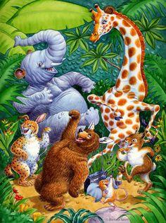 Mignonnes illustrations C  ( de Barbara Spurll )