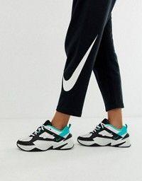 Nike M2K Tekno shoes white blue green