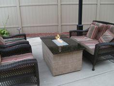 Modern glass fire pit DIY