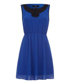 Take a look at this Black & Blue Sleeveless Dress on zulily today!