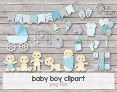 Imagendes de baby shower, bebes niños, bebes azul de DulsStuff en Etsy