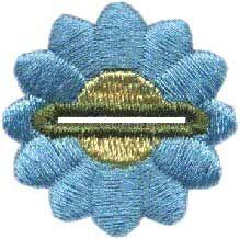 Daisy buttonhole machine embroidery design. flower buttonhole idea